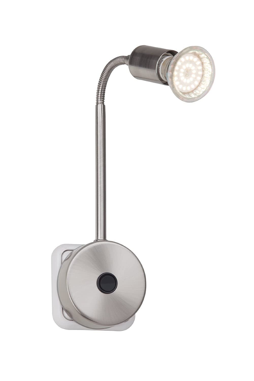 Brilliant G28842/13 - Foco LED de enchufe (metálico, 2,5 W), color plateado: Amazon.es: Iluminación
