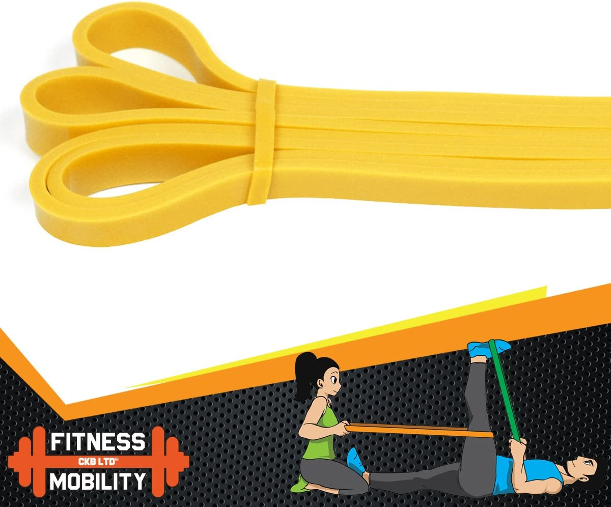 CKB LTD Resistance Bands SINGLE BAND For Assisted Pull Up Stretch Strong Latex Gym Elastic Calisthenics Gymnastics Loop Powerlifting Workout Ideal for Men and Women Fitness Exercises
