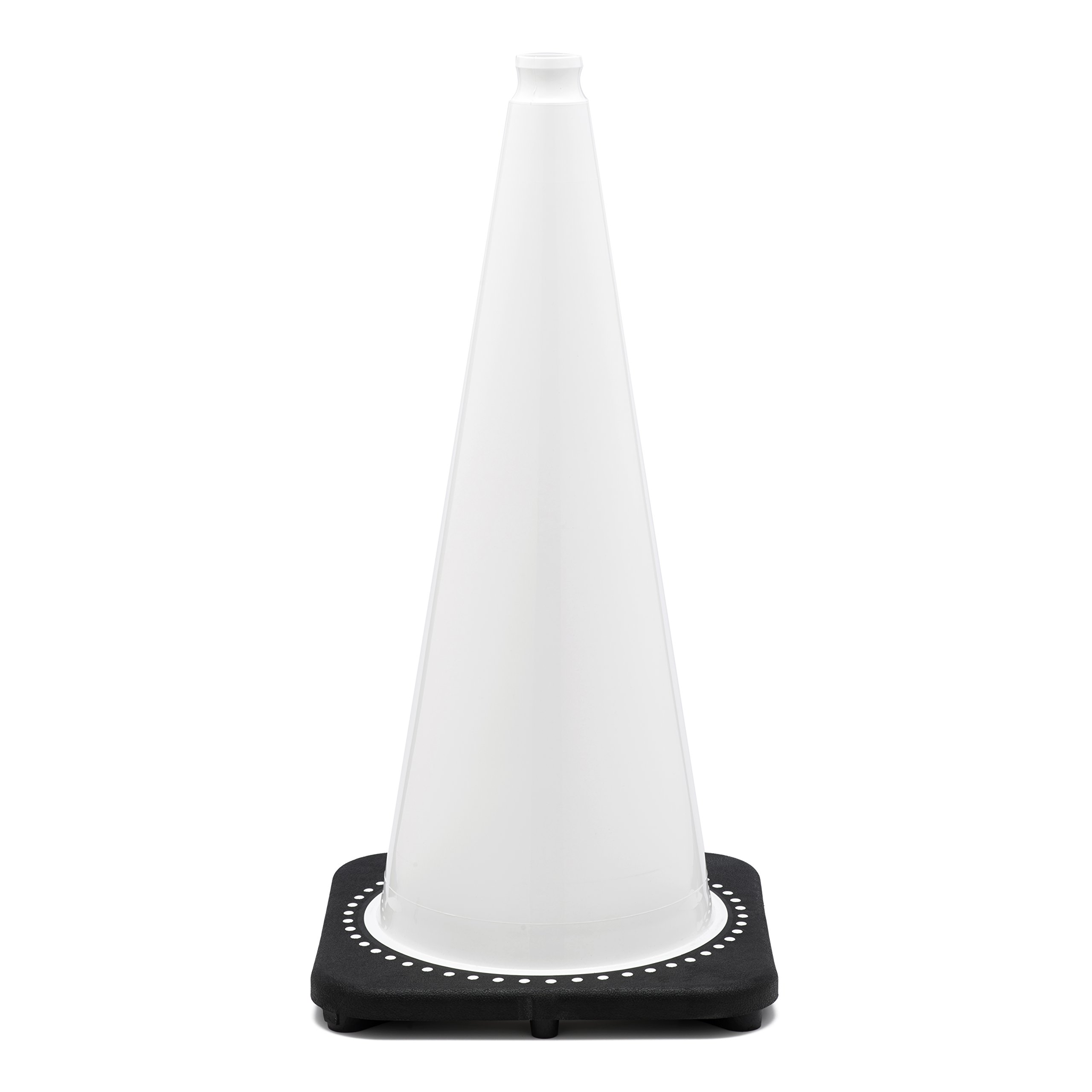 JBC Safety Plastic RS70032C-White Revolution Series 28'' Traffic Cone Wide Body, White Color