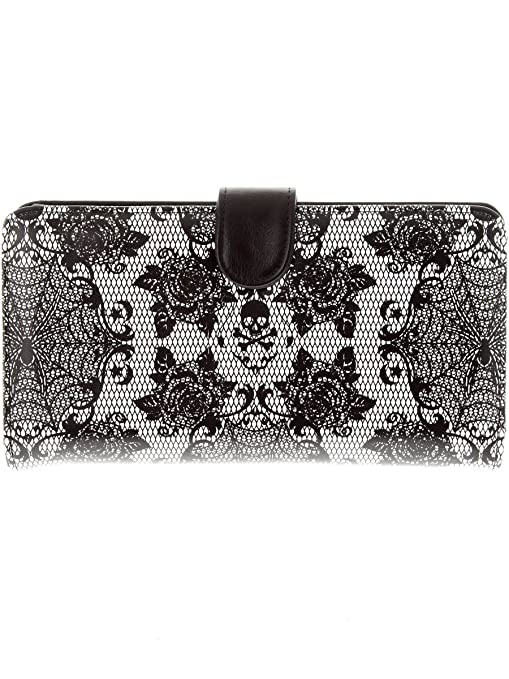 Cartera mujer Iron Fist Midnight Widow Negro-blanco: Amazon ...