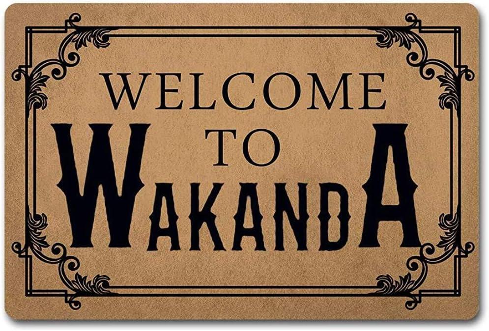Cy-ril Bienvenido Felpudo 60X40Cm Bienvenido a Wakanda Pantera ...