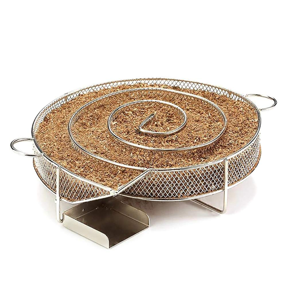 ZDYLM-Y Cold Smoker Barbecue Smoking Stainless Steel Smoke Basket BBQ Smoking Accessories Cold Smoking Suitable for Barbecue