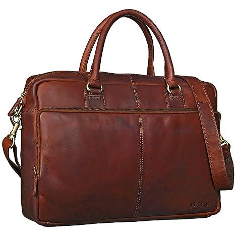 86d929fb16 STILORD 'Aaron' Borsa da lavoro portadocumenti in pelle Borsa cartella da  donna uomo per
