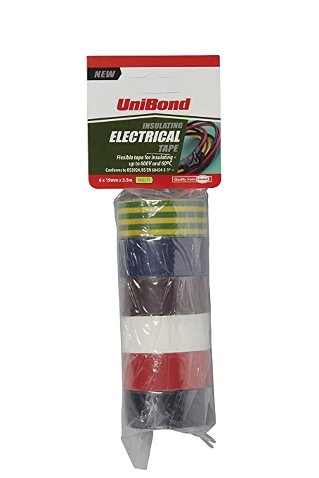 1a95c25f58e0 UniBond Insulating Electrical Tape Multipack / Duct tape in yellow/green,  black, white