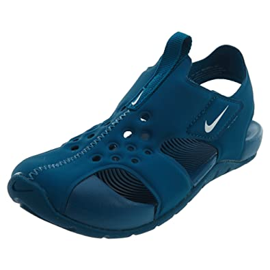 info for 6e326 d6545 Nike Sunray Protect 2 (PS), Sandales de Sport garçon, Multicolore (Green