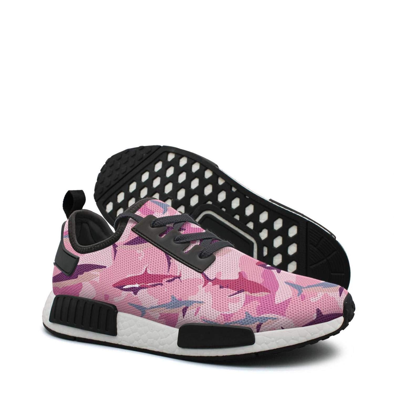 ktyyuwwww Woman Colorful net Sneaker Pink camo Shark Birthday Climbing Design Running Shoes