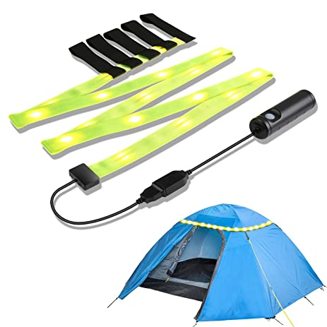 YOUKOYI Battery Operated Led Strip Light Rechargeable USB C&ing Lights LED Rope Light Portable Tent  sc 1 st  Amazon.com & Amazon.com : YOUKOYI Battery Operated Led Strip Light Rechargeable ...
