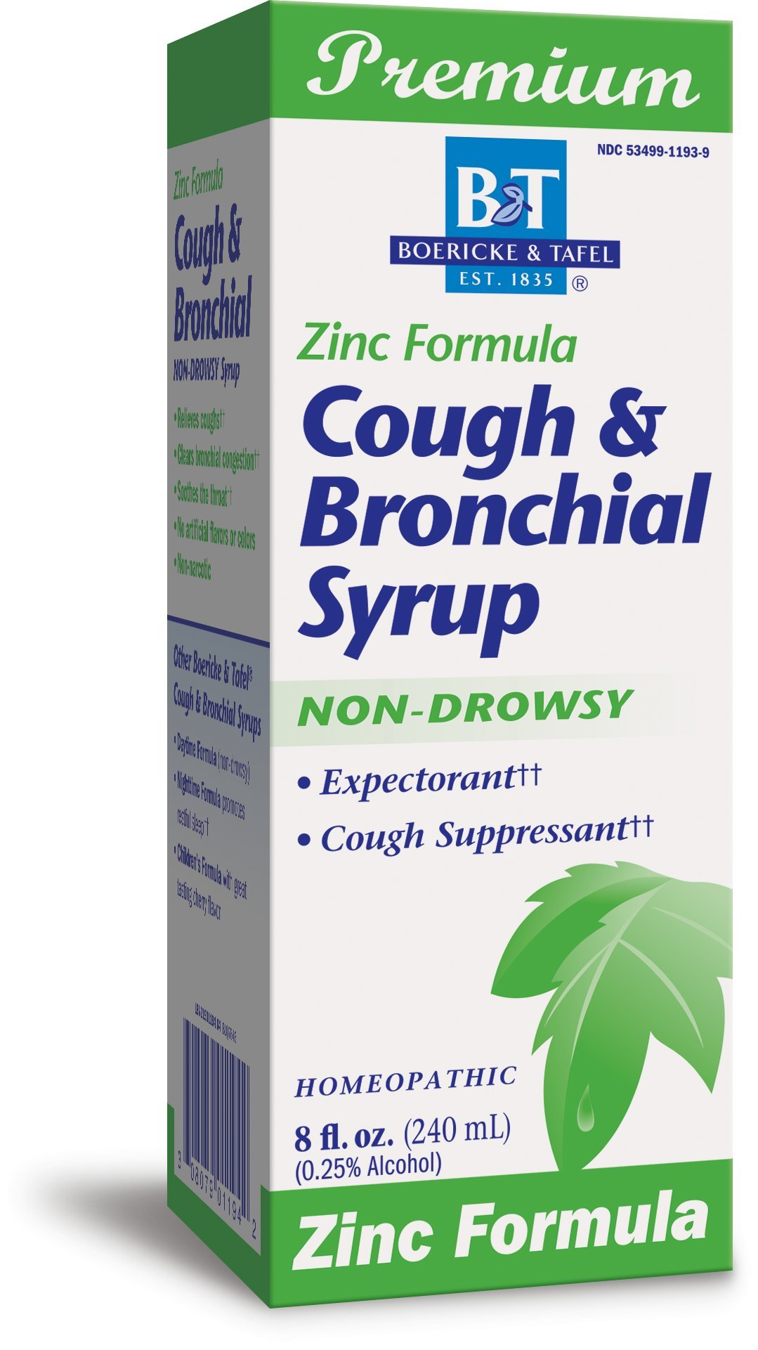 Boericke and Tafel Cough and Bronchial Syrup with Zinc, 8 Fluid Ounce by Boericke & Tafel