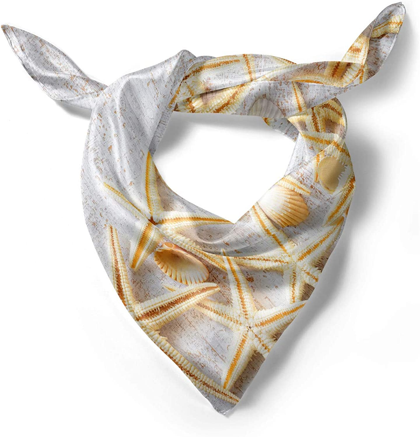 Sea Shells on Timber Ambesonne White Head Scarf Hair Wrap