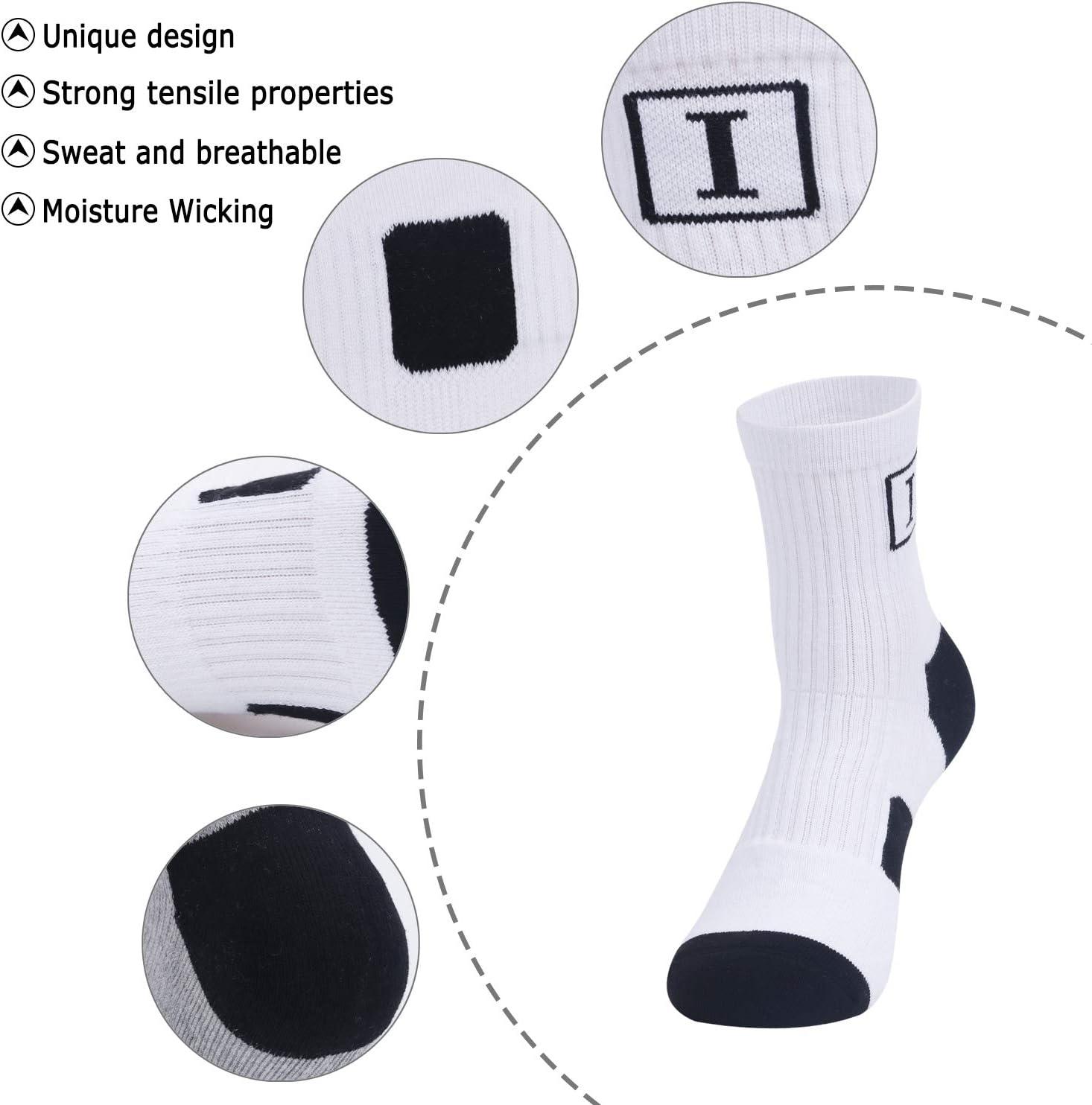 Irypulse Hombres Mujeres Calcetines Deportes Calcet/ín Resistente al Desgaste Algod/ón Suave C/ómodo Transpirable