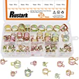 Rustark 55Pcs Spring Band Type Action Fuel Line Silicone Vacuum Hose Pipe Clamp Low Pressure Air Clip Clamps Fasteners…