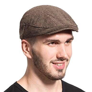 Leucos Ticte Gatsby Newsboy Hat Men Women Classic Herringbone Tweeb Flat Cap  at Amazon Men s Clothing store  d046bbad2ee