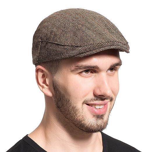 Leucos Ticte Gatsby Newsboy Hat Men Women Classic Herringbone Tweeb Flat Cap  at Amazon Men s Clothing store  6b78e38e7c38