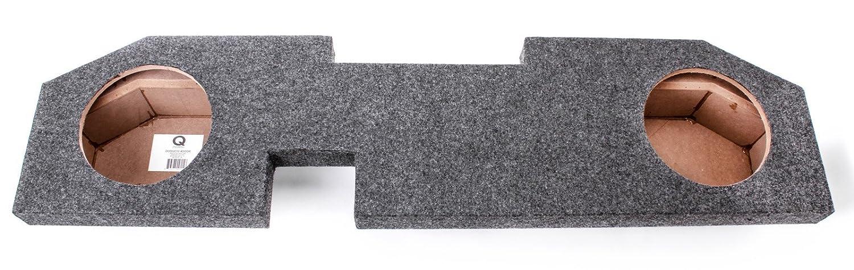 Q Power DODGE10 4DOOR Dual 10-Inch Custom Fit for Dodge Quad Cab 4-Door Speaker Box