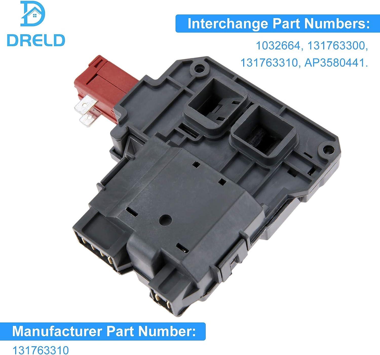 131763202 Washer Door Latch /& 131763310 Door Striker Replacement for Kenmore//Sears 41748116700 Washing Machine Compatible with 131763202 Door Lock Switch /& 131763310 Door Strike