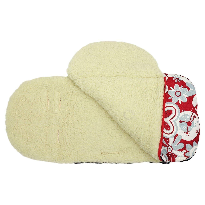 Wool Black Universal Baby Stroller cosytoes Liner Buggy Padded Luxury Footmuff