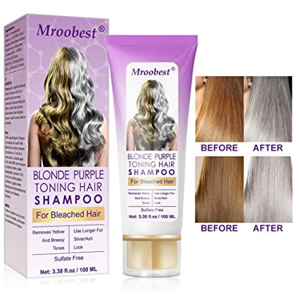 Purple Shampoo, No Yellow Shampoo, Purple Shampoo for Blonde Hair, Brassy, Silver & Color Treated Hair Moisturizer, Bleached & Highlighted Hair, Bleached Hair Toner best purple shampoo