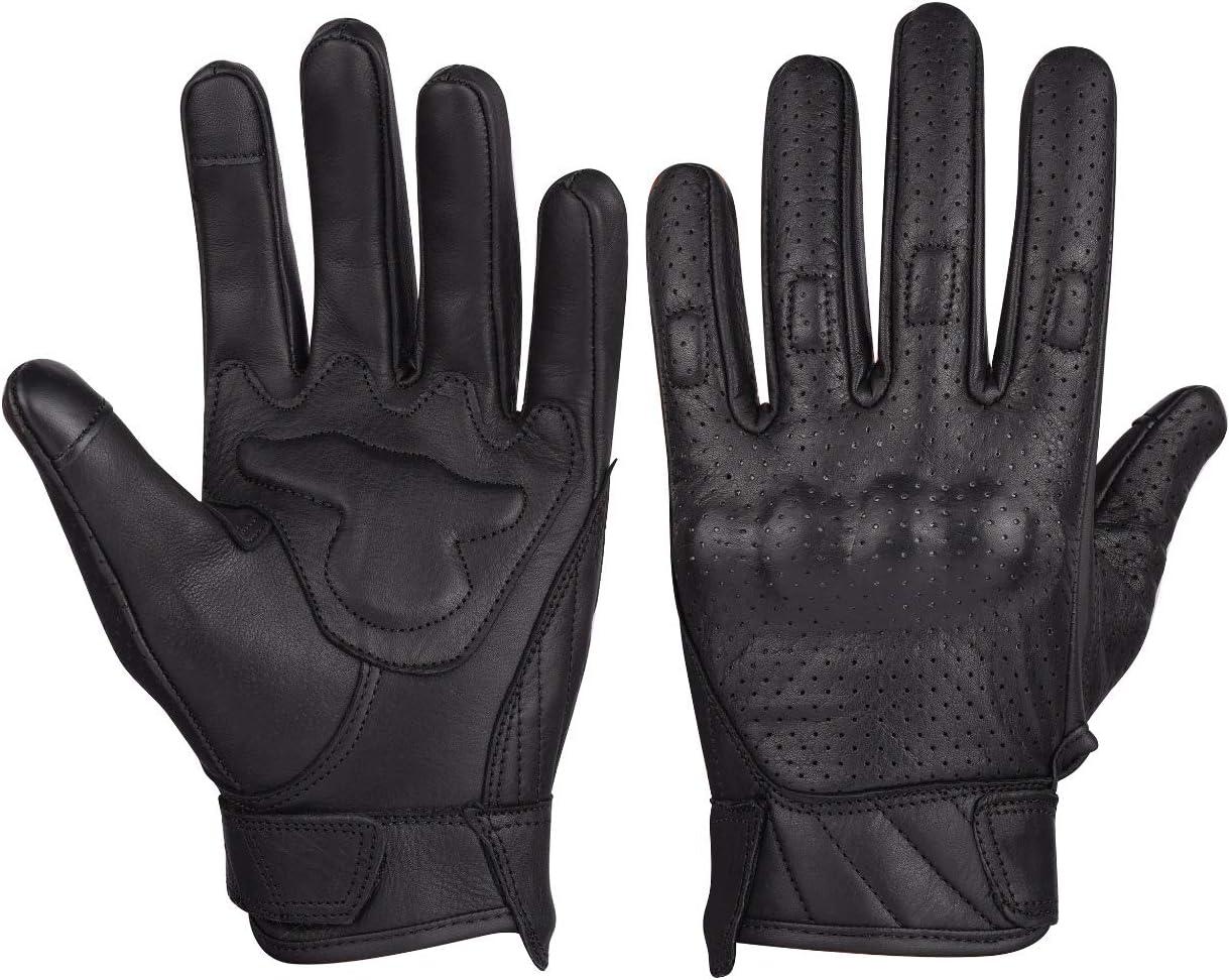 Mens Premium Leather Perforated Glove XS