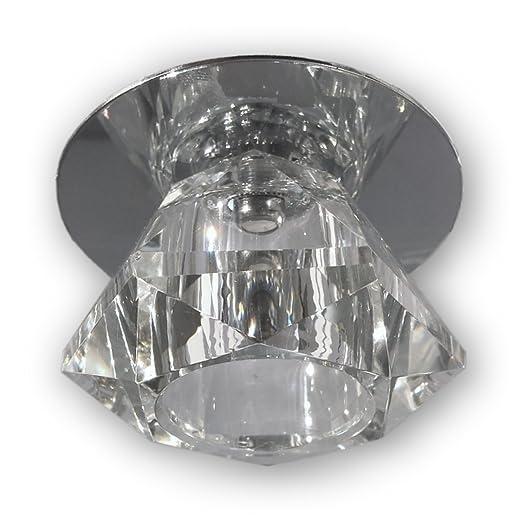 12 V LED empotrable cristal (S0004) incluye 2 W G4 bombilla LED con casquillo