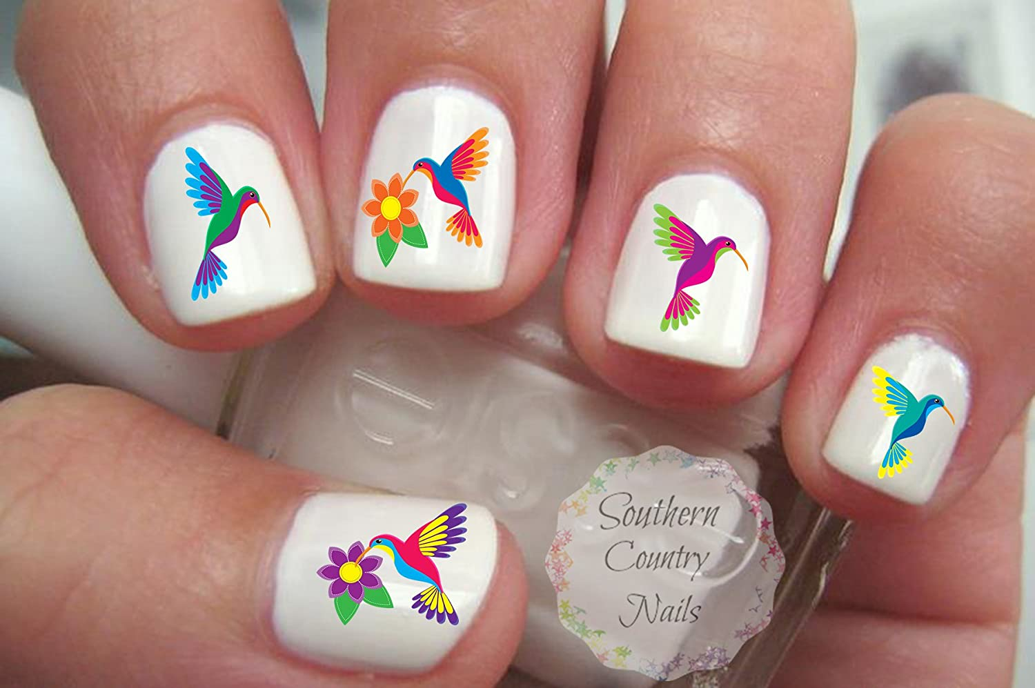 Amazon.com: Hummingbird Nails Decals Set of 50: Beauty