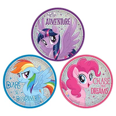 Amscan MLP Friendship Adventures 7 Dessert Plate (8): Toys & Games