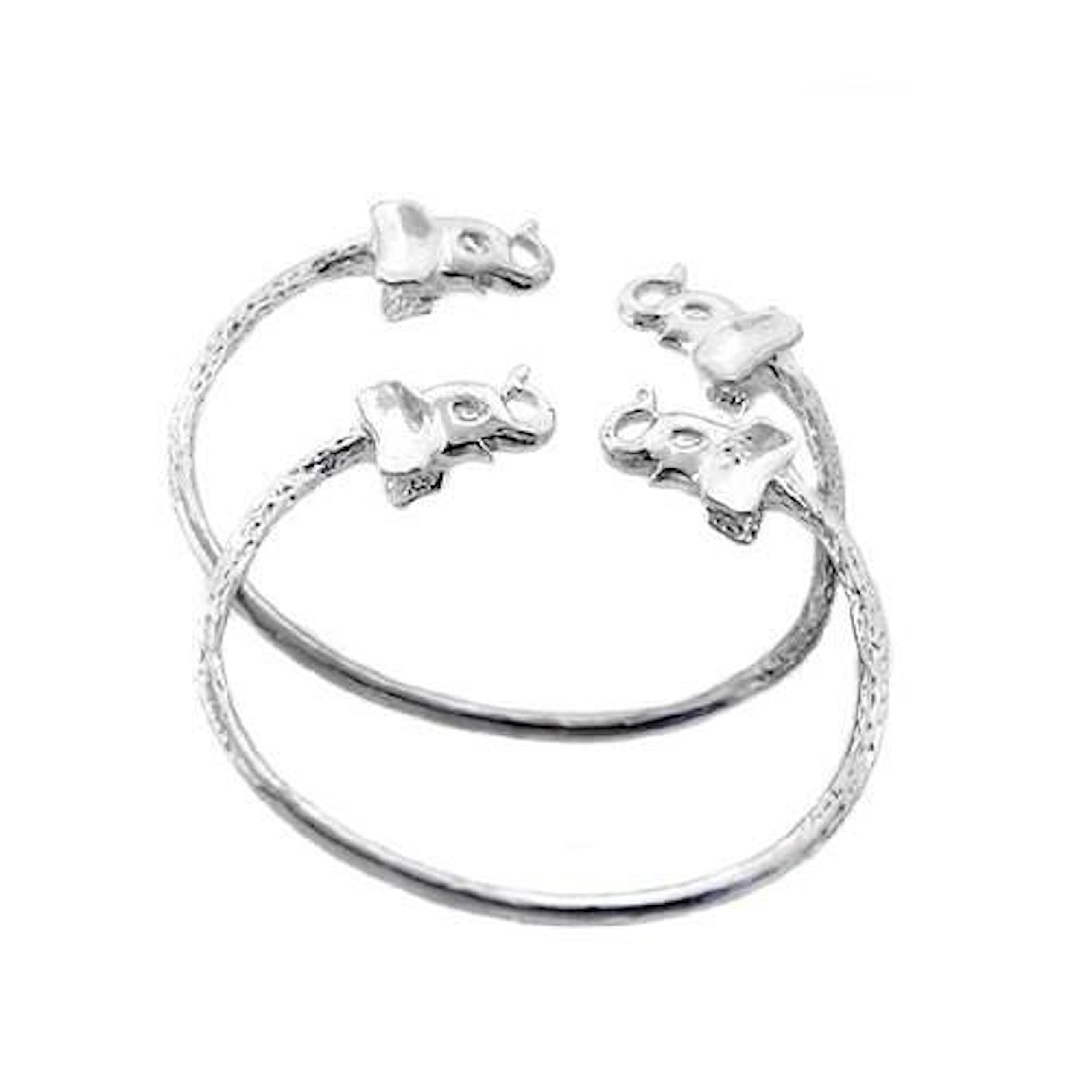Elephant .925 Sterling Silver West Indian BABY Bangles (MADE IN USA)