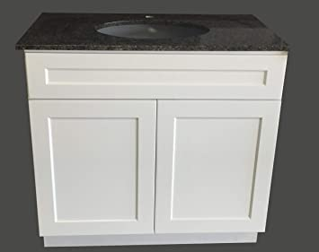 36 Wide X 21 Deep New White Shaker Single Sink Bathroom Vanity Base Cabinet Ws V3621 Amazon Com