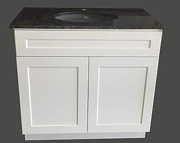 36 Wide X 21 Deep New White Shaker Single Sink Bathroom Vanity Base Cabinet Ws V3621 Amazon Com