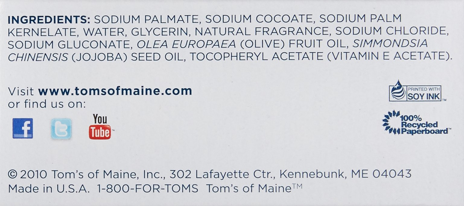 Tom's of Maine Moisturizing Bar Daily, 4-Ounce Bar, Pack of 6 by Tom's of Maine (Image #7)