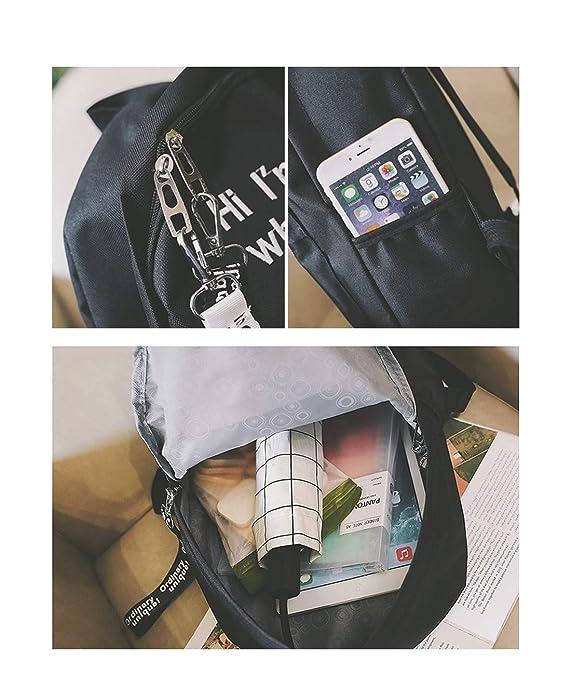 cbe81d476d21 Amazon.com: K.X.S Personalized Gifts Women's Backpack Plain Design ...