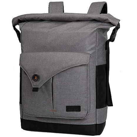 Amazon.com: Lekesky Roll-top Laptop Backpack 15.6 Inch Minimalist