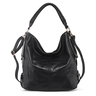beeb89aa97 Amazon.com  PU Leather Shoulder Bag for Women Hobo Handbag Large Capacity  Crossbody Bags Top Handle Tote Purse Black + Katloo Nail Clipper  Shoes