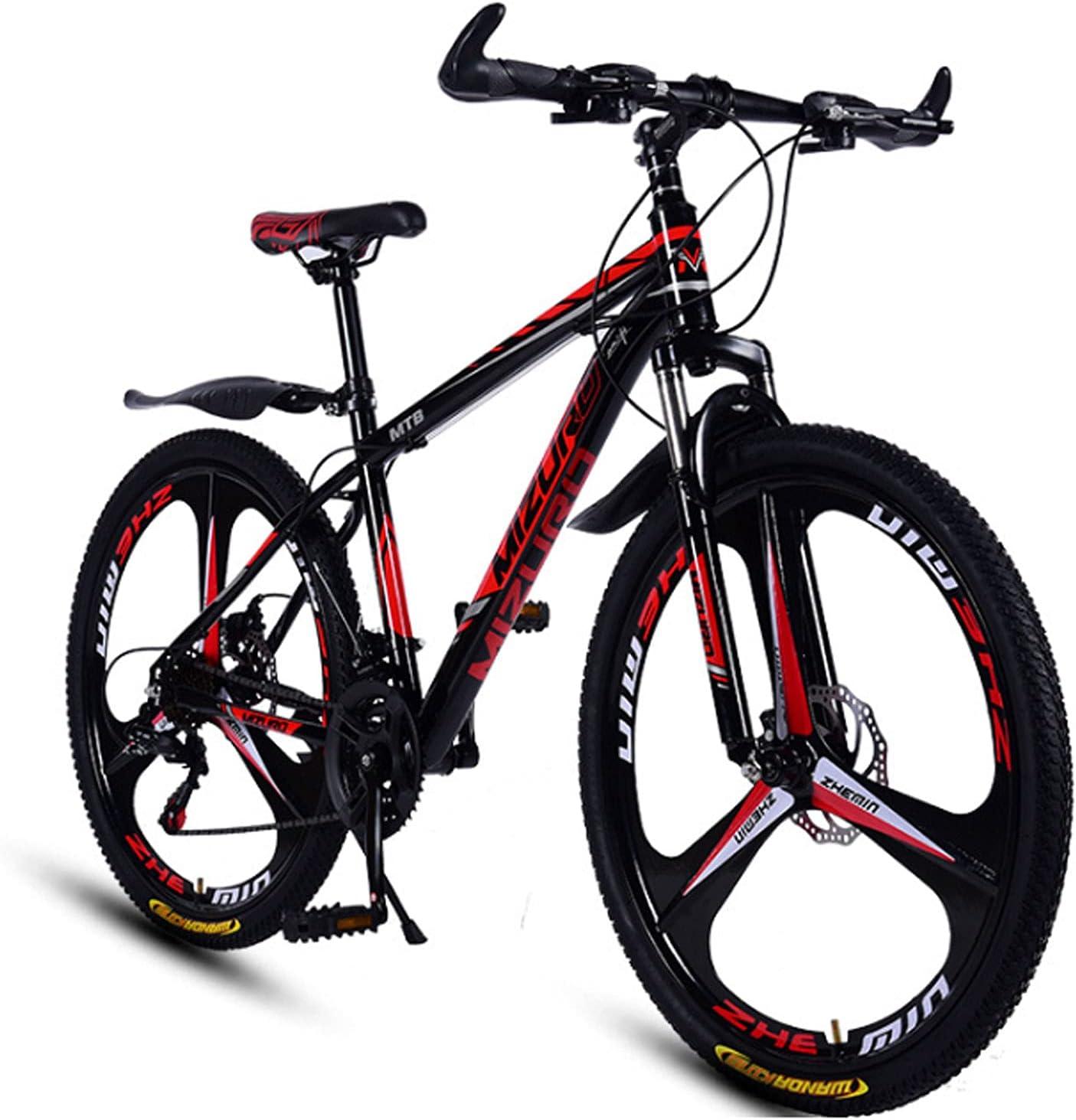 DWXN 26 Pulgadas 21 velocidades Fuera de la Carretera Bicicletas, neumáticos Gruesos Suspensión de Acero Altas de Carbono, Hombres y Mujeres, Bicicletas de montaña, Freno