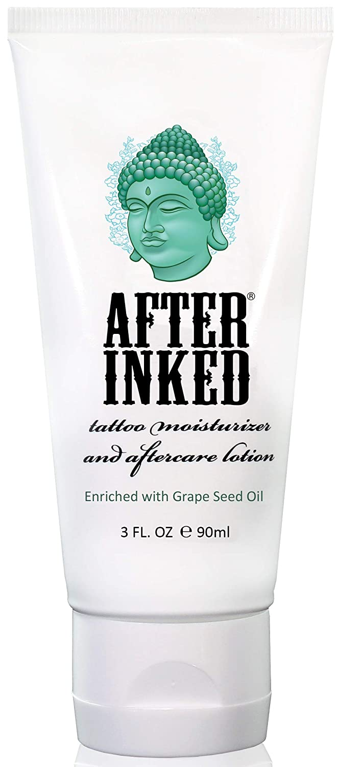 aee2514da Amazon.com: After Inked Tattoo Moisturizer & Aftercare Lotion 3oz Tube:  Health & Personal Care