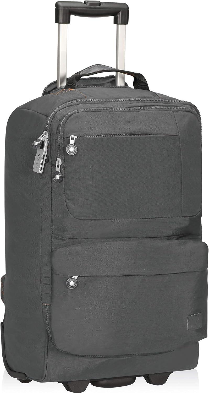 Hynes Eagle Trolley Backpack Sac /à Dos de Voyage 35L Sac /à Dos /à roulettes Sac de Cabine avec 1 Casier /à Bagages 52x34x20cm