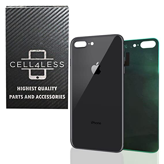 buy popular a2eda 9c216 Back Glass Cover OEM Battery Door Replacement w/Adhesive & Removal Tool for  Apple iPhone 8 Plus (Space Gray)