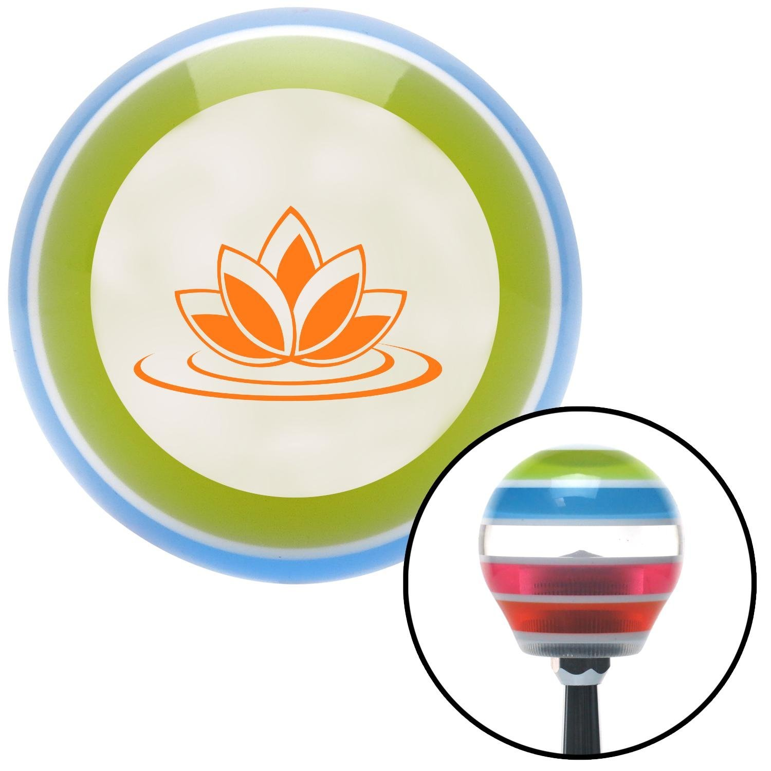 Orange Flower on Water American Shifter 135399 Stripe Shift Knob with M16 x 1.5 Insert