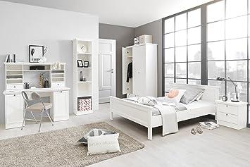 Jugendzimmer Landstrom 164 Weiss 5 Teilig Bett 140x200 Schreibtisch