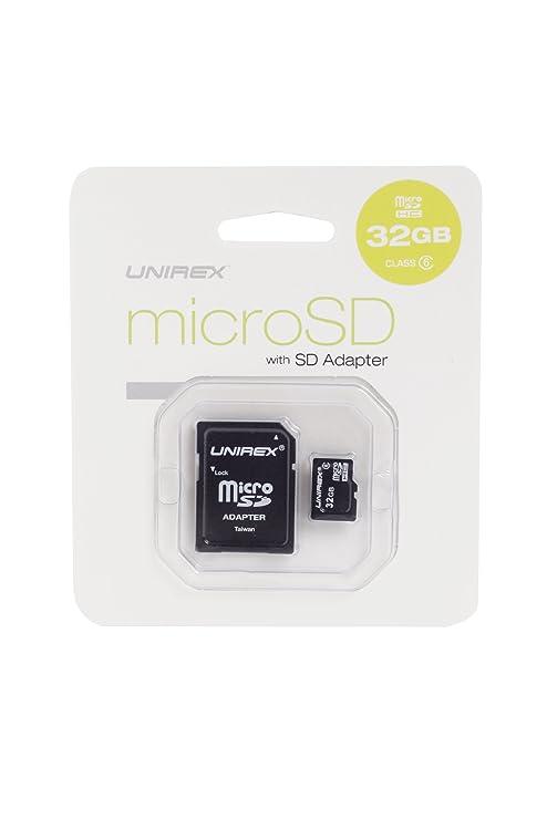 Amazon.com: unirex tarjeta micro SD con adaptador SD (msd ...