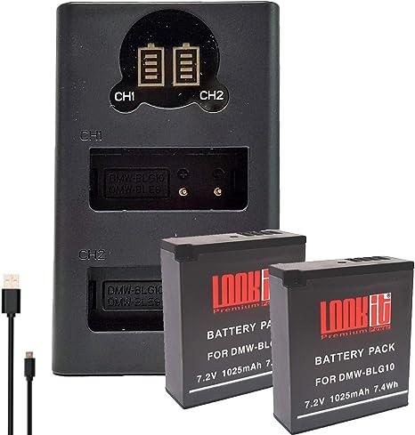 Ladegerät für Panasonic Lumix  DC-TZ96 EG Akku DMW-BLG10E 1025mAh