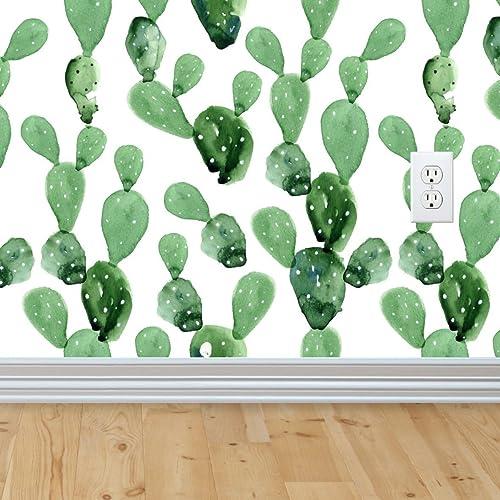 Self-adhesive Removable Wallpaper, Cactus Wallpaper, Peel and Stick Fabric  Wallpaper, Custom