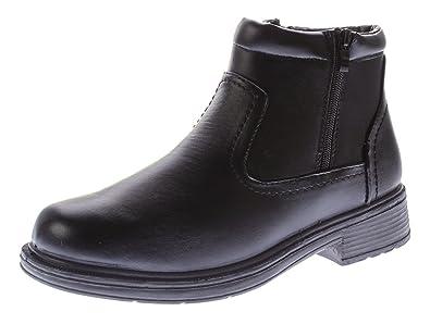 bccd26b79e4fb9 Herren Knöchel Winter Schuhe gefüttert Boots Kunst Leder Reißverschluss  Stiefeletten Schwarz Gr. 40