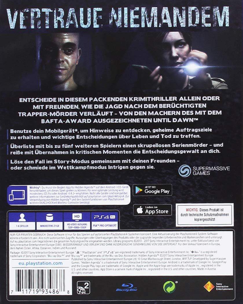 Hidden Agenda - PlayStation 4 [Importación alemana]: Amazon ...
