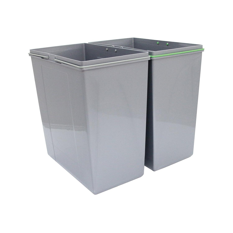 aae9da8c29d1a6 KuKoo poubelles coulissantes pour la cuisine Poubelles Poubelles de  recyclage à domicile 49.5cm (H