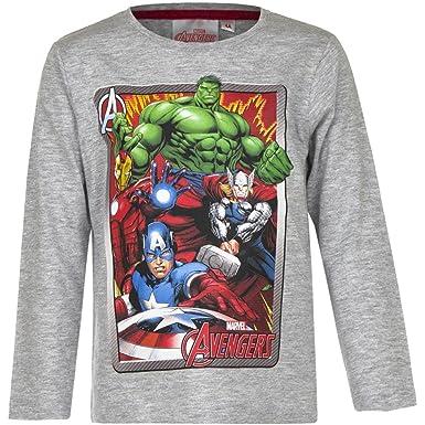 Avengers Langarmshirt Jungen Marvel Rundhalsausschnitt