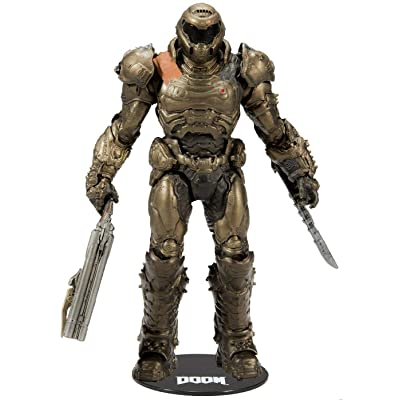 "McFarlane Toys Doom - Doom Slayer 7"" Premium Action Figure Bronze Edition Limited: Toys & Games"