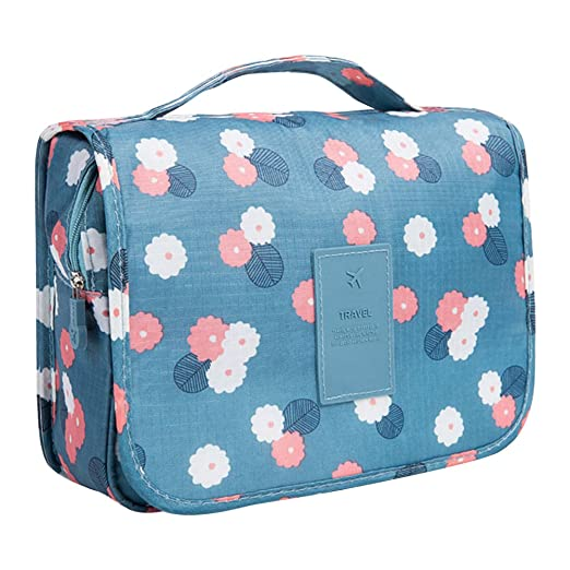 2f86f9308bc2 Amazon.com  Vox Ladies Hanging Toiletry Bag for Travel Waterproof Makeup Bag  Organizer Wash Bags (Light Blue)  Clothing