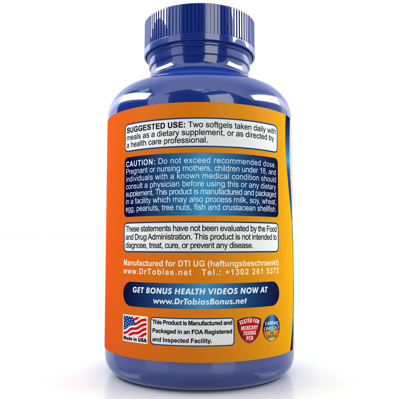 Galleon dr tobias omega 3 fish oil pills 90 softgels for Dr tobias fish oil