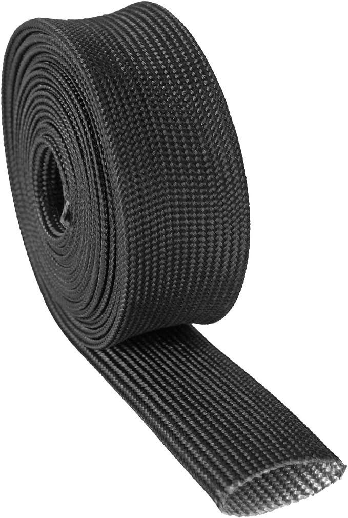 1 IDX 10 Adjustable Black Exhaust Heat Shield Spark Plug Wire Heat Shield Roll For Car/&Auto Wire Loom Heat Shield Brake Line Cable Heat Shield Fiberglass Heat Wrap Wire Shield Sleeve