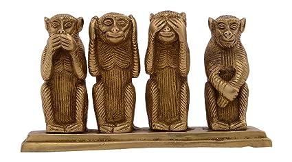 Amazon Com Kapasi Handicrafts Emporium Brass Monkey Sitting